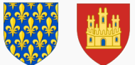 Image: Wikipediaフランス国王の紋章とその母親ブランシュ・ド・カスティーユの紋章